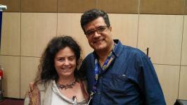 Fábio Bonvenuto e Katherine Zeserson - Diretora de aprendizagem e participação - Sage Gateshead - Inglaterra