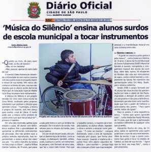 diario oficial setembro 2010